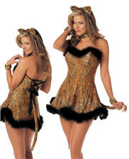 FIERCE LUSTY LEOPARD ADULT HALLOWEEN COSTUME WOMEN'S SIZE MEDIUM/LARGE