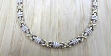 Sterling Silver Gold Plated Link Necklace; Italy ~ 20.3grams ~ 4-H5679