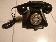 Telefon alt schwarz Kabeltelefon Post w 48 Wählscheibe  Festnetztelfon 819