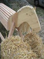Holzpferd Voltigierpferd Holzpony mit beweglichem Kopf aus Douglasie