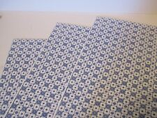 Miniature Dollhouse Wallpaper J Hermes Tile Squared blue/white 1:12 scale