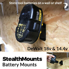 2x StealthMounts for DeWalt NiMH 18v 14.4v Battery Holder Mount Slot Wall Van