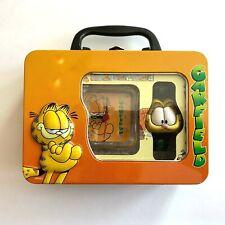Garfield the Cat Mini Clock & Digital Watch Set in a Tin Garfield Face Flip