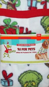 Dr. Seuss THE GRINCH PJ's Pets Dog Christmas Sweater Holiday Small Winter White