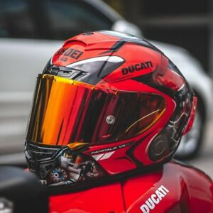 SHOEI X14 DUCATII Full Face Motorcycle Motocross Racing Red Color Riding Helmet
