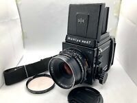 【 MINT 】 Mamiya RB67 Pro S + SEKOR C 127mm F3.8 Lens + 120 Film Back From Japan