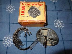 DDR Werkzeug Lochkreissäge LK68 f. Bohrmaschine VEB Mikromat WMK Fritz Heckert