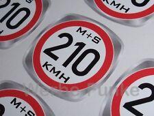 Geschwindigkeitsaufkleber 210 kmh für M+S Winterreifen, Reifen 30mm ,Aufkleber