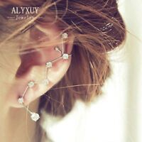 Stars Galaxy Earrings Constellation Cuff Sweep Up Crawler Climber Ear Pin Women