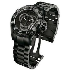 INVICTA MENS RESERVE EXCURSION COMBAT SWISS QUARTZ BLACK BRACELET WATCH 6474