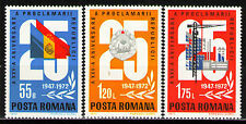 Romania 1972 Sc2396-98  Mi3080-82  3v  mnh   25th anniversary of the Republic