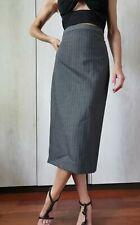 RRP €420 ✨MAX MARA Grey Virgin WOOL&MOHAI  Skirt     USA4_ IT38_D34_ GB6_ FR36