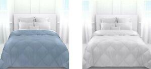 LAUREN RALPH LAUREN Down Alternative Comforter TWIN Size GRAY / BLUE $179 NEW