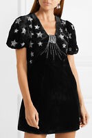 New Rixo Bambi Sequin Embellished Velvet Mini Dress Sz XS, S, M, L