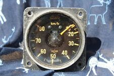 WW2 German Glider Aircraft Speedometer in vgc for age, rare  0-80km EASTER SALE!