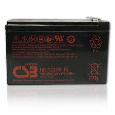 CSB 12v  34W Sealed Lead Acid Battery HR1234W F2 New 2017
