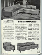 1959 PAPER AD 2 PG Mid Century Modern Furniture Sofa Chair Selig Sectional Couch