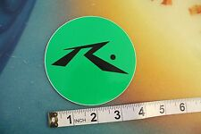 """New listing Rusty R dot neon Green and Black ~4"""" circle Vintage Surfing Decal Sticker"""