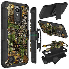 Hybrid Rugged Holster Belt Clip Hard Phone Case Cover for LG K20 Plus / V5 / K10