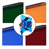 4x Color Gels Film Sheets Filter Paper For Flash-Light Stage Studio Lamp