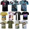 3D Fashion Men Fish Cat Print T-Shirt Short Sleeve Clothes Summer Casual Top Tee