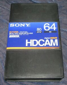 Sony BCT-64HDL 64/80 minute HDCAM Digital HDVS video cassette in library case NR