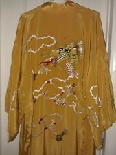 VTG 30s Dragon Embroidered Kimono Robe  Japan