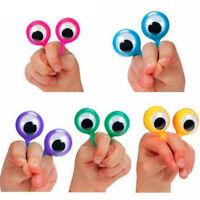 3/12/24Pcs Eye Finger Puppets Eye On Rings Eyeball Ring Party Kids Gift Creative
