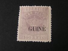 PORTUGESE GUINEA, SCOTT # 19, 100r. VALUE LILAC 1881-85 CABO VERDE OVPT MNG