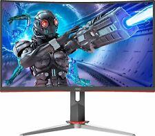 "AOC - 27"" LED Curved FHD FreeSync Monitor - Black/Red"