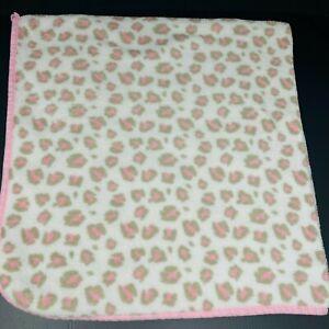 Family Dollar Pink Brown Tan Leopard Cheetah Spots Animal Baby Blanket Lovey