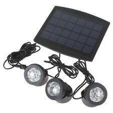 3 x 6White Light LEDs Waterproof Solar Powered Garden Lamp + 1 x Solar Panel