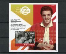 Elvis Presley Gambian Sheet Famous People Postal Stamps