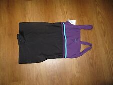 NABAIJI swimsuit shorty top & shorts onesuit BNWT eur 44 /  Medium black purple
