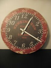 Kensington London Historic Train Station Vintage Finish Round Wooden Wall Clock!