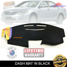 DASH MAT to Suit TOYOTA Camry ACV40 5/2006-11/2011 Altise Sportivo DM1015 BLACK