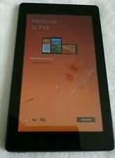 "Amazon Kindle Fire 7"" - BLACK - 7th Gen 16GB Model SR043KL Read description"