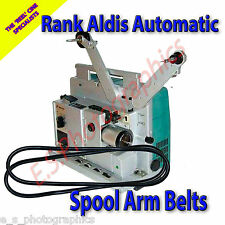 Proyector de cine de rango Aldis automático 16mm Correas x2 (para los dos brazos de carrete)