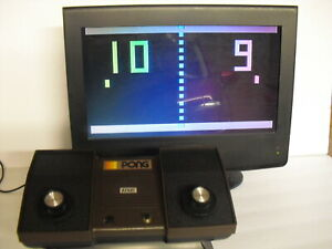 ATARI PONG  C-100  GAME CONSOLE  - WITH AC POWER SUPPLY and USB POWER SUPPLY