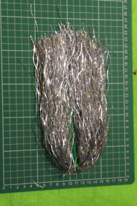 pike fly tying material SILVER WAVE TINSEL