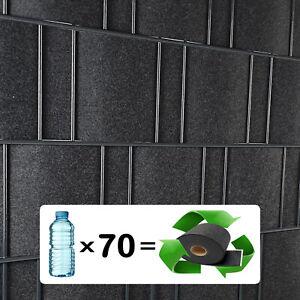 Uni + Design Vlies Sichtschutzstreifen Rolle für Doppelstab Matten Zaun PVC frei