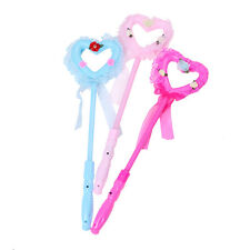 Flashing Beautiful Princess Wand Fairy LED Scepter Magic Heart Stick Toy ES PL