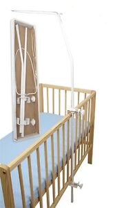 DRAPE / CANOPY HOLDER / CLAMP / ROD / BAR POLE COT/ COT BED - see how to mount