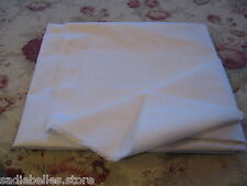 "5 YDS WHITE WOVEN FUSIBLE COTTON INTERFACING 60"" / IRON-ON Fabric"