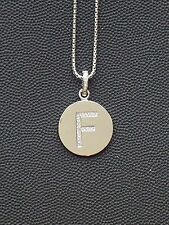 """Brand New Diamond """"F"""" Initial Pendant, Sterling Silver (.07 CT. T.W.)"""