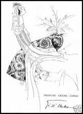 PUBBLICITA' 1926 GI.VI.EMME. PROFUMO CIPRIA CREMA DONNA MODA ALA DI FRANCO ALOY