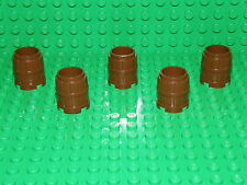 LEGO 5 x BROWN BARRELS (No 2489) for pirate/castle/minifigures NEW!!!