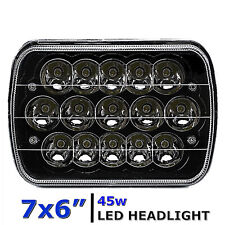 "7X6"" Black LED HID  Light Bulbs Clear Sealed Beam Headlamp Headlight"