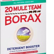 BORAX 20 MULE TEAM LAUNDRY BOOSTER 2 oz Detergent Cleaner Sodium Tetraborate USA