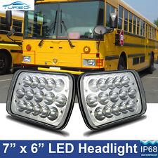 2pcs LED Headlights Square Headlamp for International 3700 3800 3900 School Bus
